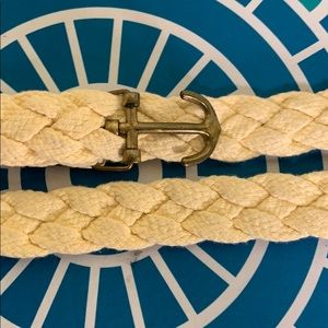 J. Crew Accessories - JCrew braided belt with anchor yellow cotton m/l
